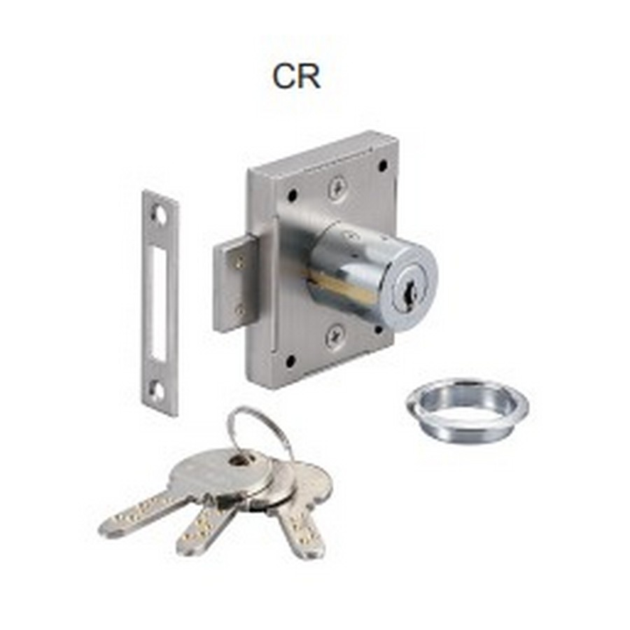 """7810 Cabinet Door Lock 1-3/16"""" Long Chrome KA/KD Sugatsune 7810-30CR"""