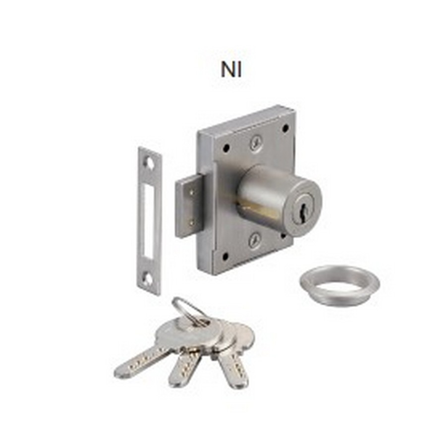 "7810 Cabinet Door Lock 1-7/16"" Long Nickel KA/KD Sugatsune 7810-36NI"