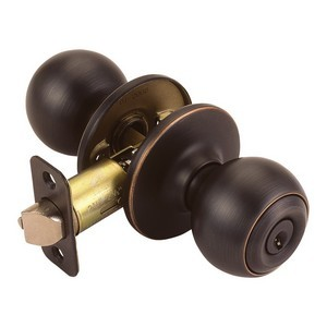 Design House 791608 Ball 2-Way Latch Entry Door Knob, Adjustable Backset, Oil Rubbed Bronze