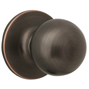 Design House 791616 Ball Dummy Door Knob, Reversible for Left or Right Handed Doors, Oil Rubbed Bronze