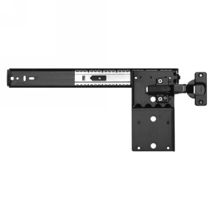 KV 8070PEZ EB 24, 24 L Pocket Door Slides w/ Inset Hinges & Base Plates, Medium Duty 30lb Rated, 1-2-3 Install Method, Black