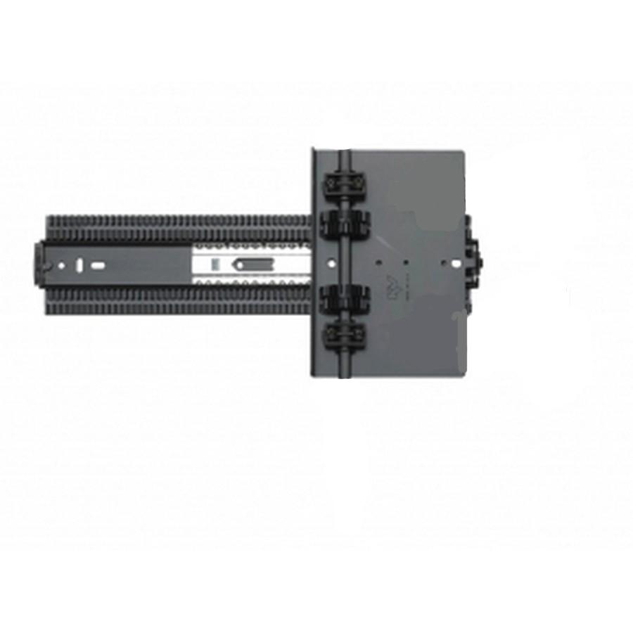 """8091 12"""" Pocket Door Slide Without Hinge Plates Black KV 8091SP EB 12"""