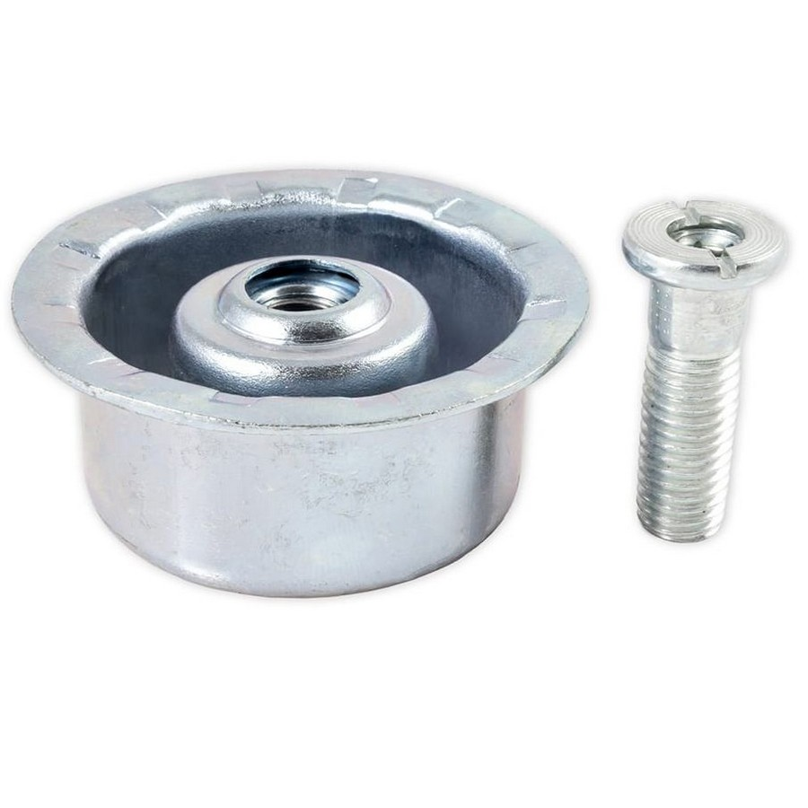 "Screw Mount Metal Socket with Hollow Bolt 2-3/8"" Dia Peter Meier 830-H1-00"