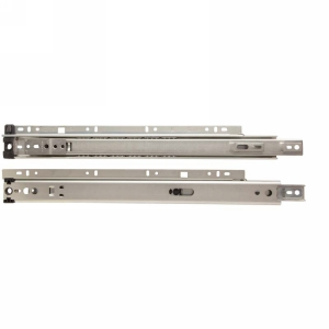 "KV 8300P 24, 24"" 75lb 3/4 Ext Ball Bearing Quick Disconnect Rail Drawer Slide, Anochrome, Polybag, Knape and Vogt"
