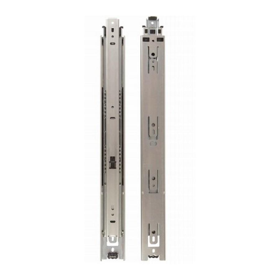 """KV 8400 14"""" Side Mount Full Extension Drawer Slide Cabinet Member Only Anochrome Bulk-100  Knape and Vogt 8400-90 14"""