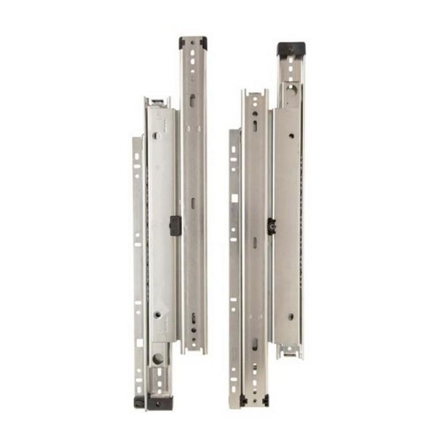 """KV 8500 12"""" LH Side Mount Full Extension Drawer Slide Anochrome Bulk-10 Each Knape and Vogt 8500-99 12"""