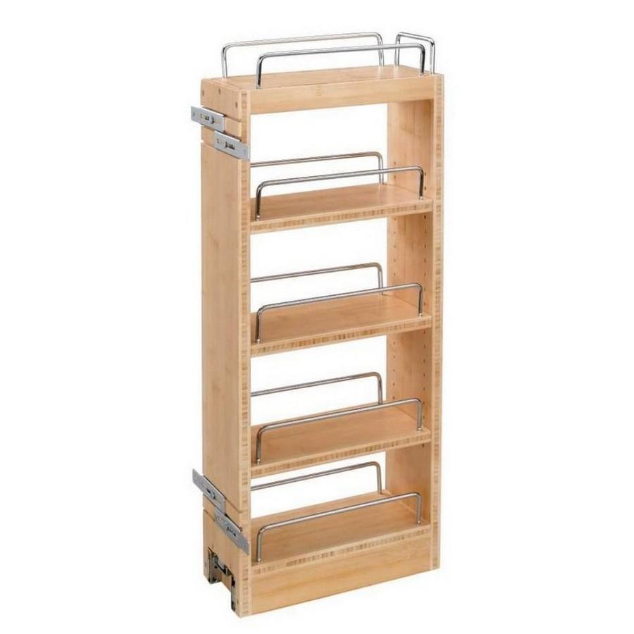 "8"" Wood Pullout Wall Cabinet Organizer Rev-A-Shelf 448-WC-8C"