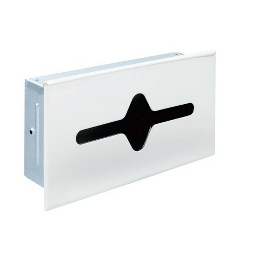 Steel Shallow Recessed Tissue Cabinet Polished Chrome Liberty 925