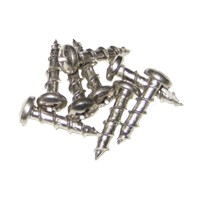 Youngdale SC.6-1/2.NI 1M, Hinge, Slide & Hardware Screw, Round Head Phillips, Regular Point, Fine Thread, 1/2 x 6, Bright Nickel, Bulk-1000