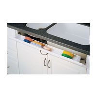 Rev-A-Shelf 6541-36-11-50, 36 L Polymer Sink Tip-Out Tray Set, Slim Series, White, 1-Pr Pivot Hinges