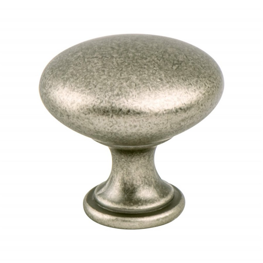 "Traditional Advantage One Knob 1-1/8"" Dia Weathered Nickel Berenson 9339-10WN-P"