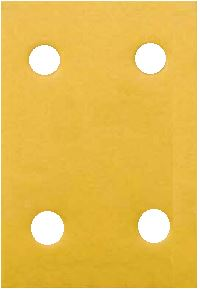 "Dynabrade 93891 Sandpaper Sheets, 3"" x 4-5/16"", 180 Grit, 4 Hole"