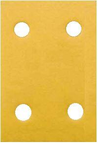 "Dynabrade 93892 Sandpaper Sheets, 3"" x 4-5/16"", 220 Grit, 4 Hole"