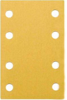 "Dynabrade 93897 Sandpaper Sheets 3-1/4"" X 5"" 220 Grit, 8 Hole"