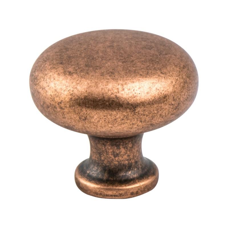 "American Classics Knob 1-3/16"" Dia Weathered Copper Berenson 9941-1WC-P"