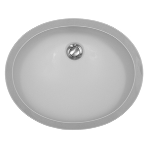 "Karran A-306 WHITE, 19"" x 15"" Acrylic Vanity Undermount Single Bowl, White, ADA"