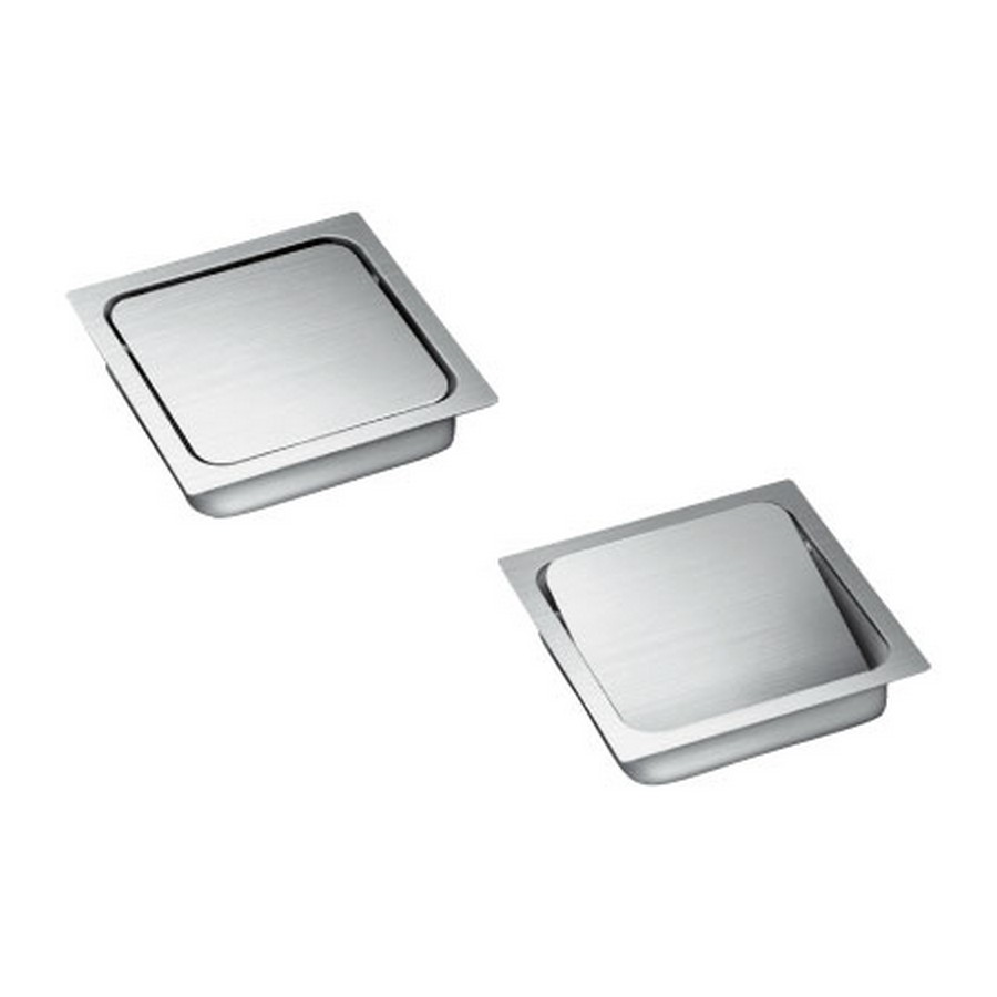 AD-KH Square Multi-Purpose Lid w/ Damper Satin Stainless Steel Sugatsune AD-KH015-HL