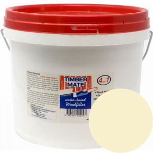 2.5 Gallon Natural-Tint Base Water-Based Wood Putty, Ready to Use, Timbermate Products ATB20