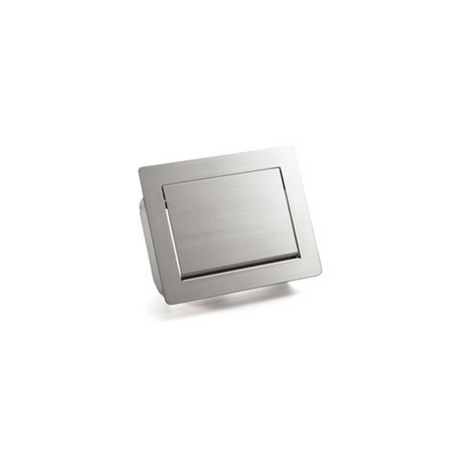 "Multi-Purpose Lid w/ Damper 12-1/8"" Wide Satin Stainless Steel Sugatsune AZ-GD232-HL"