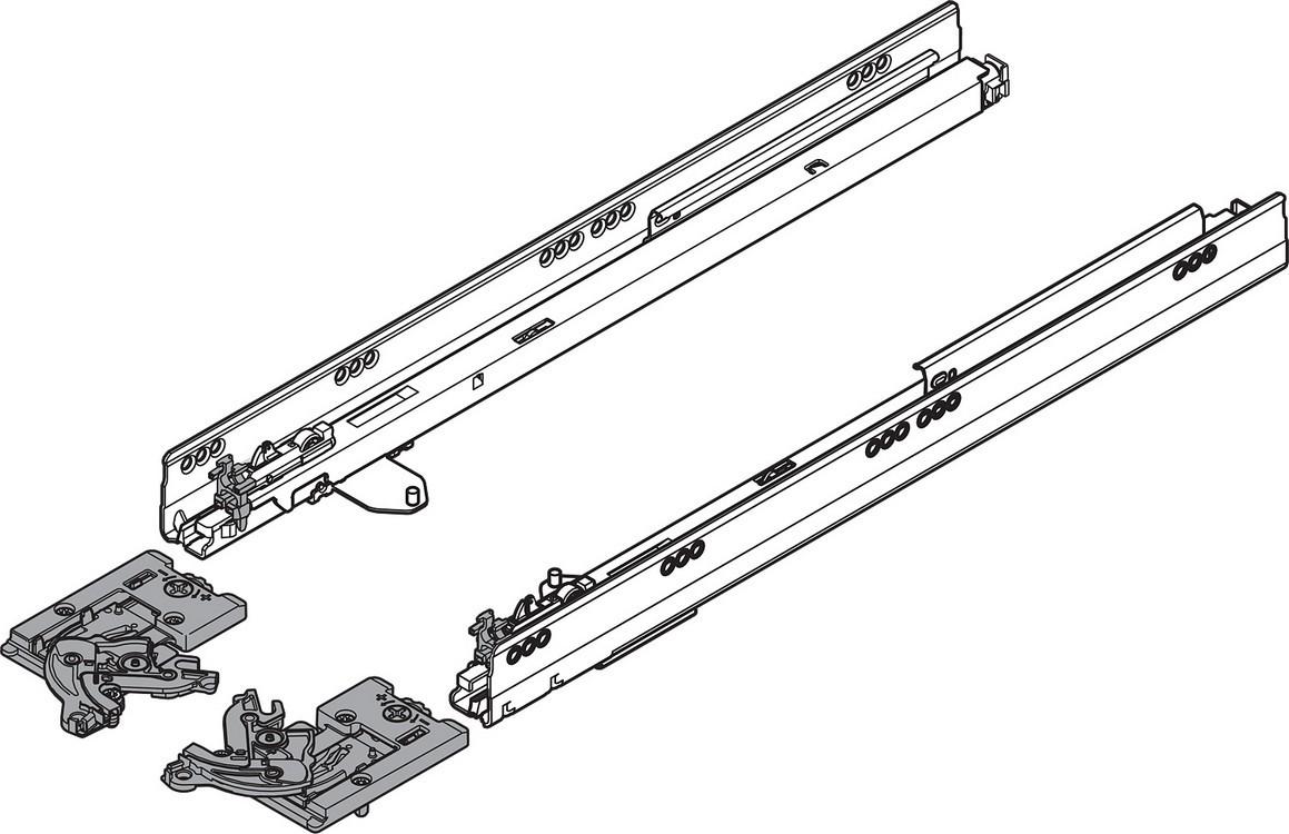 "Blum TANDEMBOX Drawer System 559.4501T-R-L 18"" Steel TANDEMBOX Intivo with TIP-ON/Lock Mechanism, Zinc"
