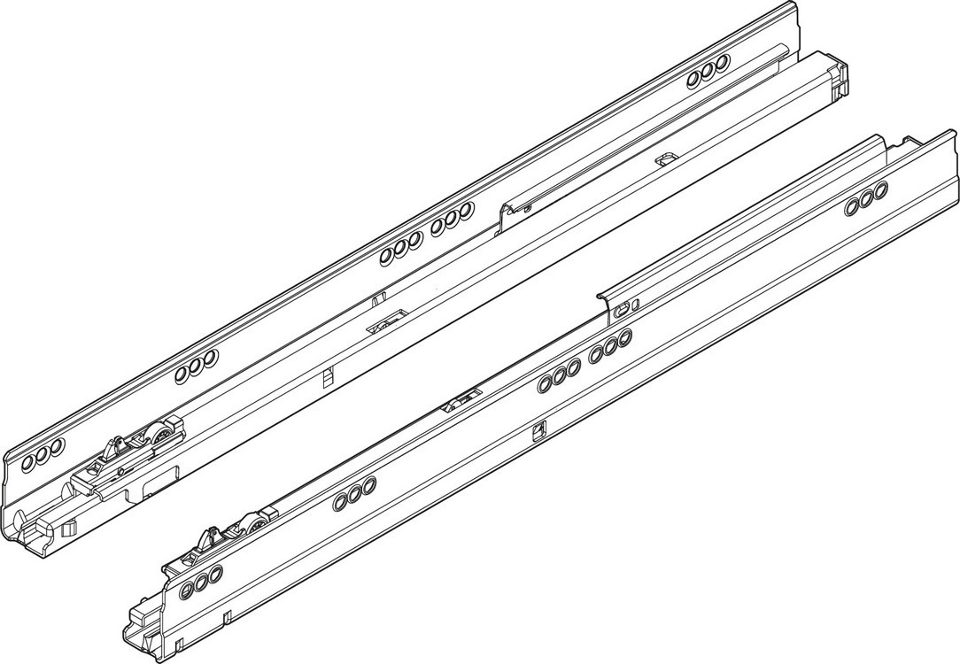 "Blum TANDEMBOX Drawer System 558.4501B01 R-L 18"" Full Extension Cabinet Member, 75lb, BLUMOTION, Zinc"