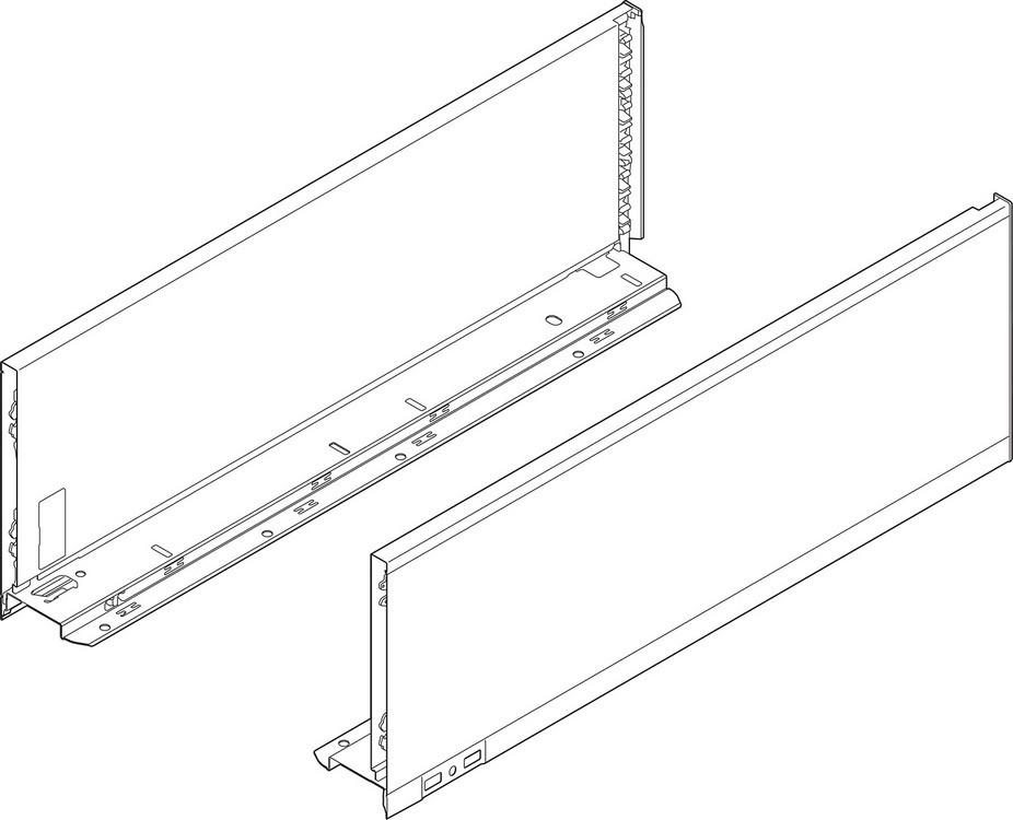 "Blum 770C5002S LEGRABOX 20"" C Height (7"") Drawer Profile, BLUMOTION, Orion Gray"
