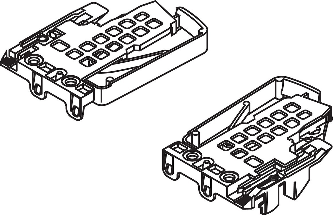 Blum T51170023LR TANDEM 552, 562, 568 Locking Device Set, Left & Right