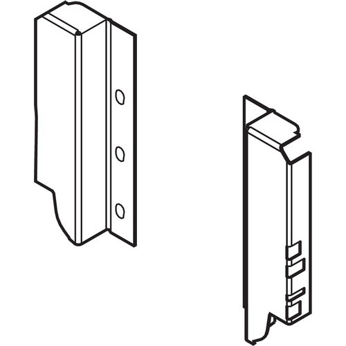 Blum Z30B000S.04 TANDEMBOX Rear Fixing Bracket, B Height, White Aluminum/Gray