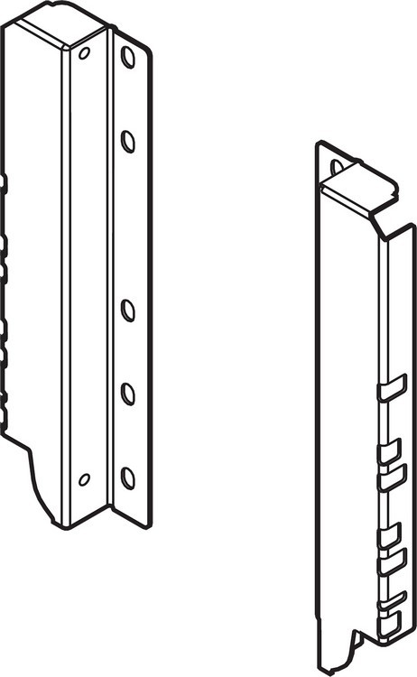 Blum Z30D000SL TANDEMBOX Rear Fixing Bracket Set (Right & Left), Gray