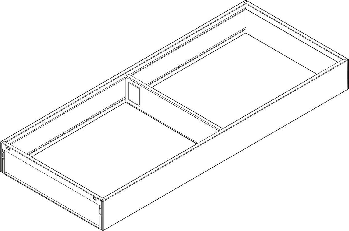 "Blum ZC7S550RS2 LEGRABOX Drawer Systems 22"" AMBIA-LINE Wide Utensil Insert"
