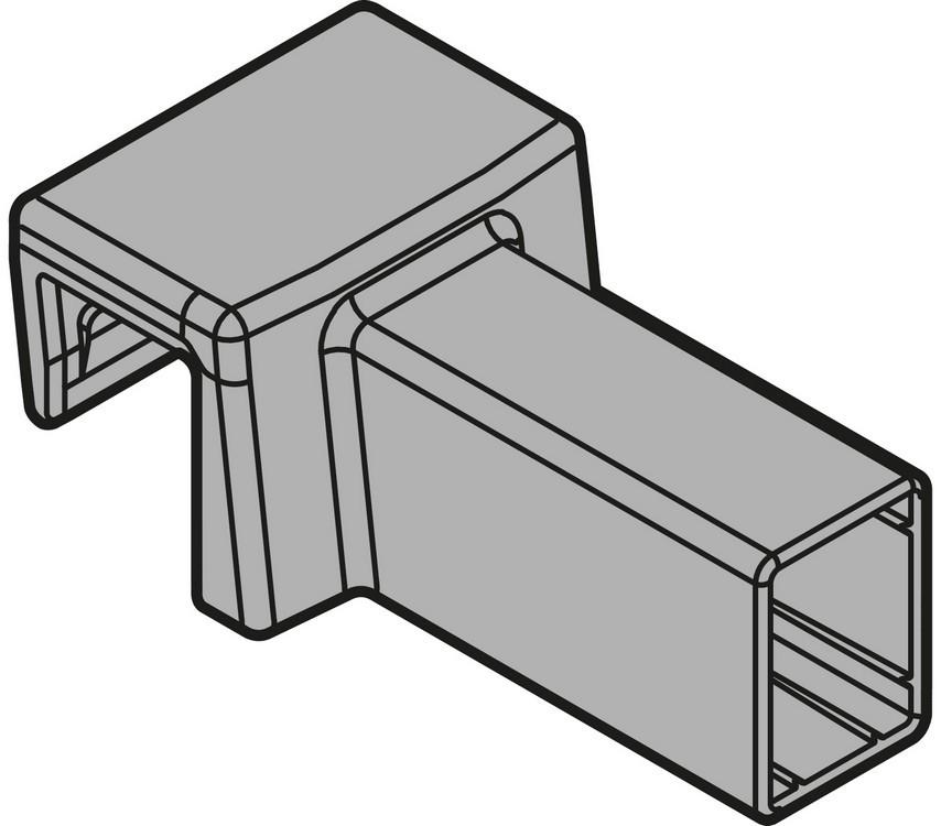 Blum ZC7U10E0 LEGRABOX Drawer Systems Cross Gallery Connector, Clip-On, Gray