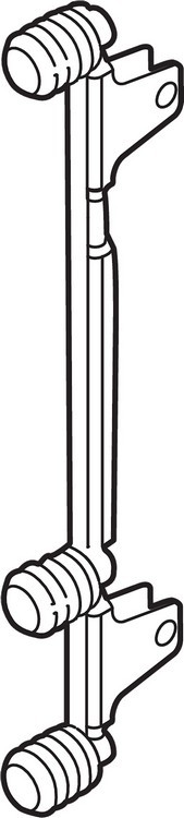 "Blum ZF7C70E2 LEGRABOX C Height (7"") Front Fixing Bracket, EXPANDO"