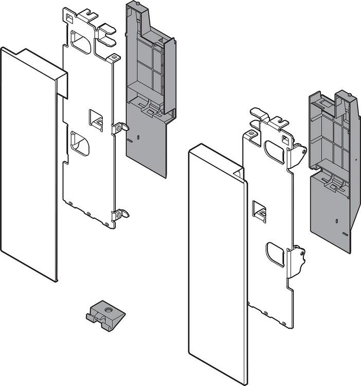 "Blum ZI7.3CI0 LEGRABOX C Height (7"") Interior Front Fixing Bracket, Stainless Steel"
