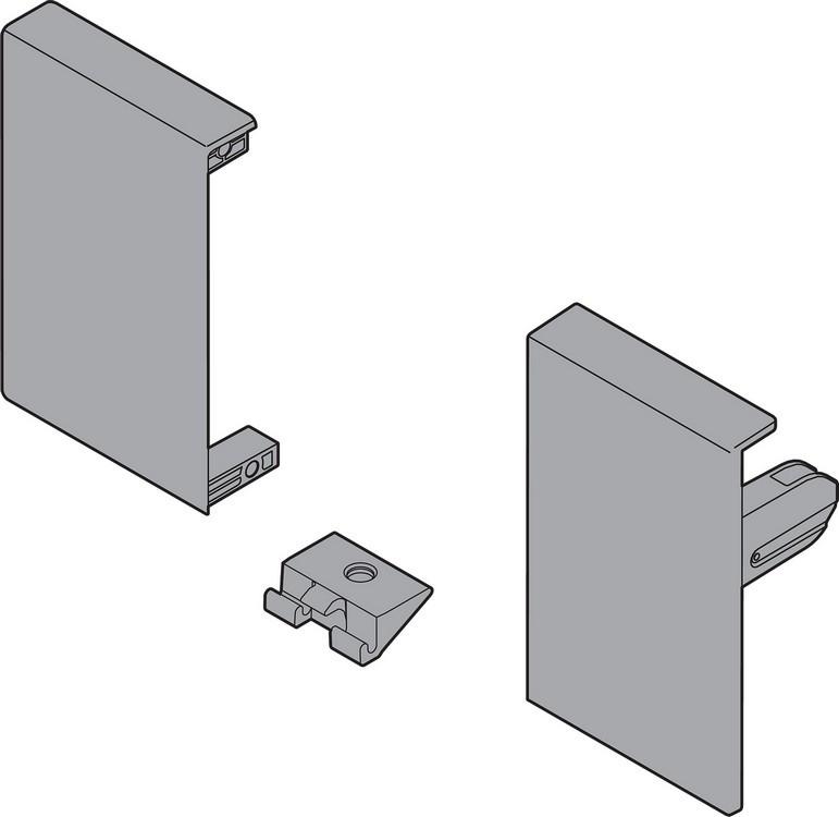 Blum ZIF.71M0 TANDEMBOX Interior Front Fixing Bracket Set (Right & Left), M Height, Gray