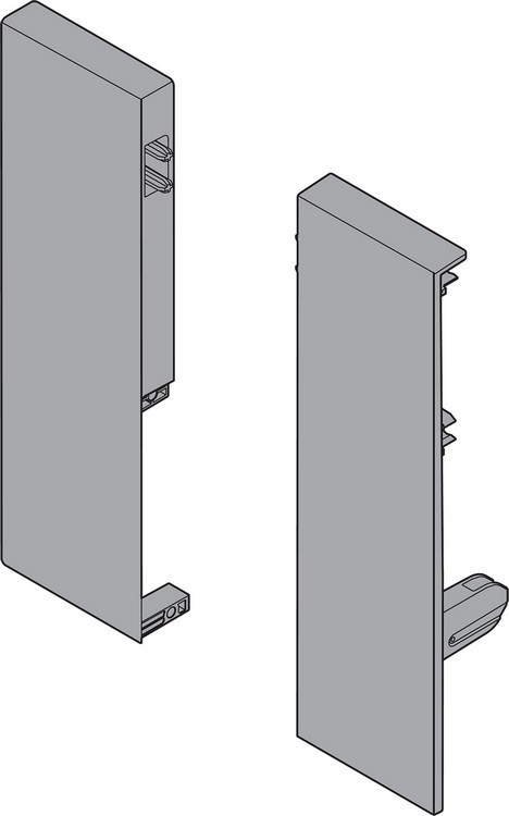 Blum ZIF.75D0.US TANDEMBOX Interior Front Fixing Bracket Set (Right & Left), M Height, Gray