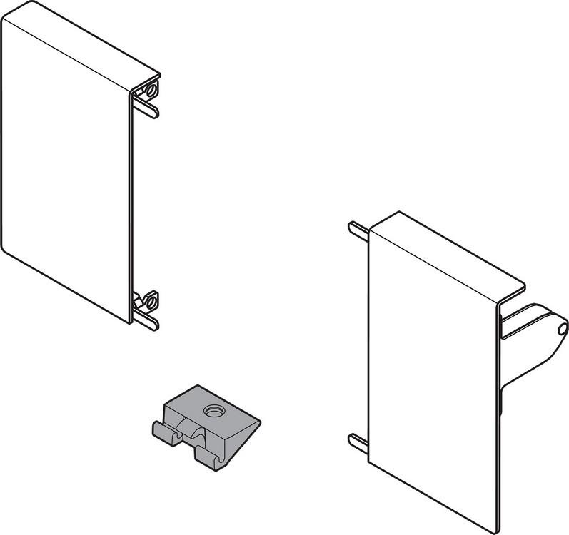 Blum ZIF.80M0.01 TANDEMBOX Front Fixing Bracket Set (Right & Left), M Height, Nickel