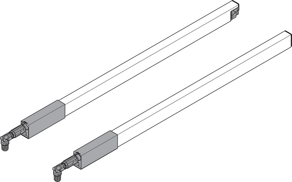 "BLUM ZRG.337RSIC 16"" Top Gallery Rail Set (Right & Left), 400mm, Gray"