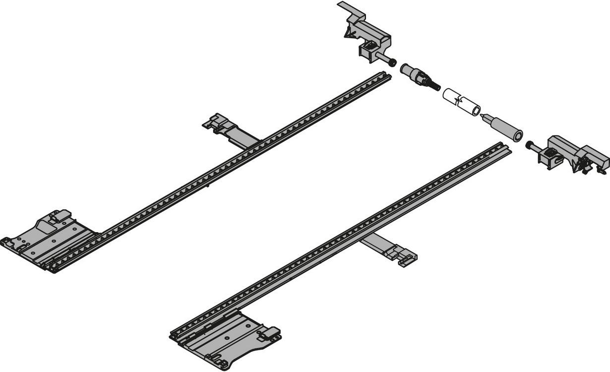 "Blum ZS7.650LU LEGRABOX 18""-24"" Lateral Stabilizer Set"