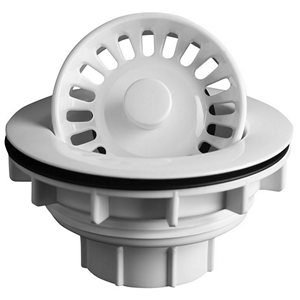 Karran WSB, Basket Strainers for Karran Acrylic Sinks, White