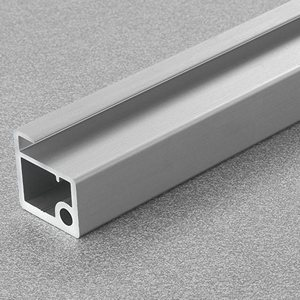 "Salice DEL6LP300P, 118"" Aluminum Door Profile for Air Hinge, Anodized Aluminum"