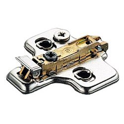 Salice BAR3L09F, 0mm Steel Mounting Plate, 2 Cam, Screw-on