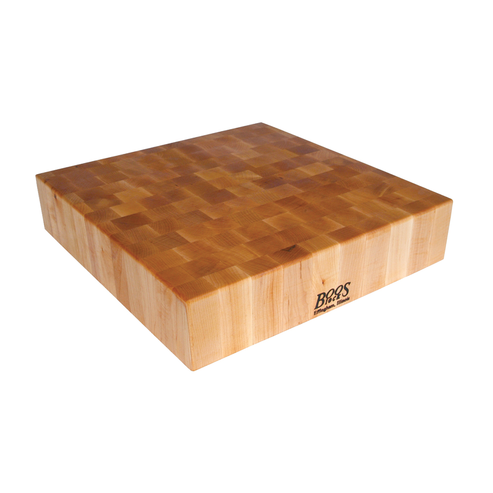 John Boos BB01 24 L Cutting Board, Chopping Block Collection, Maple, Reversible, 24 L x 24 W x 6in Thick
