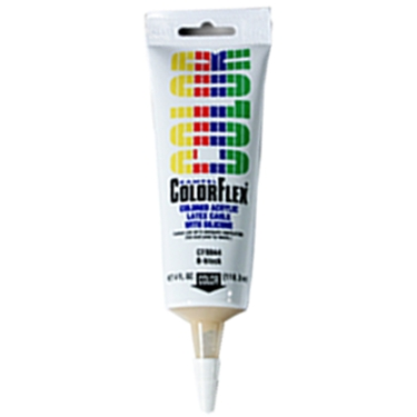 Kampel CF4861, ColorFlex Acrylic/Latex Caulk, Sandy Topaz, 4oz Tube