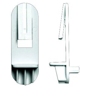 Rev-A-Shelf RSRAS305-12-10-4 Bulk-100, 5mm Bore, Shelf Support w/ Locking Clip, Use with 1/2 Shelves, White