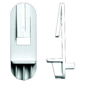 Rev-A-Shelf JPE 301-12-020-1, 1/4 Bore, Shelf Support w/ Locking Clip, Use with 1/2 Shelves, Clear, 1,000-Pk