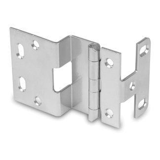 WE Preferred P374-26D 5-Knuckle Hinge for 3/4 Doors, Dull Chrome