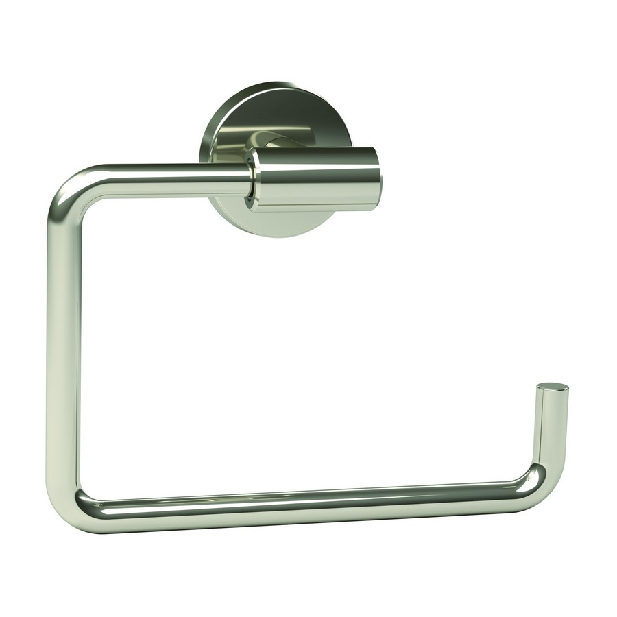 "Arrondi Towel Ring 6-7/16"" Long Polished Stainless Steel Amerock BH26541PSS"