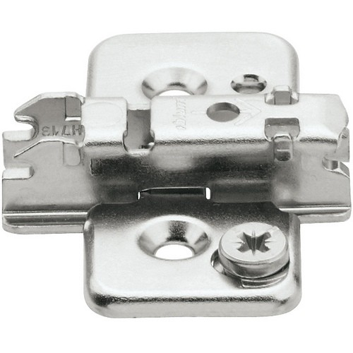 Blum 173H7130 3mm Cam Adjustable Baseplate, Screw-on