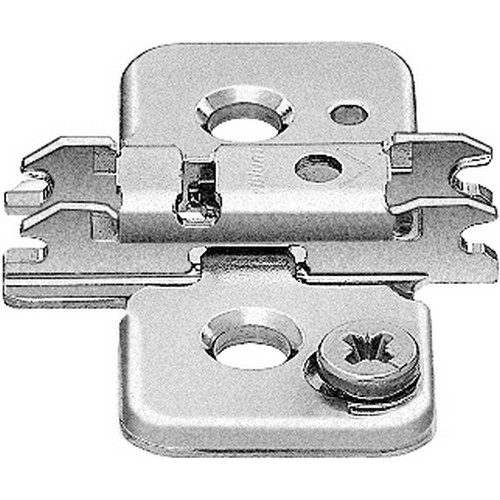 Blum 173H9130 3mm Cam Adjustable Baseplate for Wood Screws or System Screws