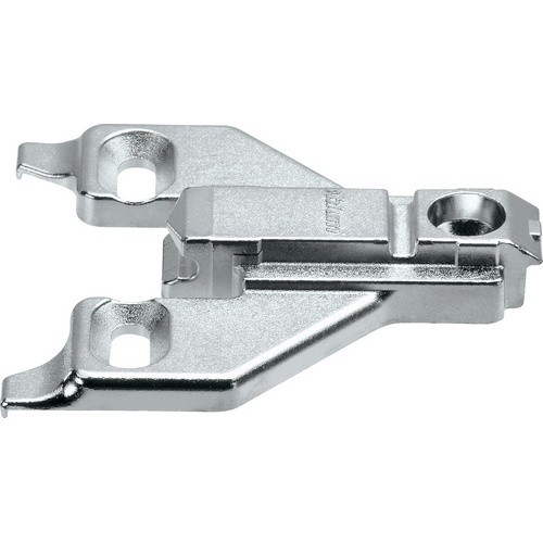 Blum 175L6630.22 3mm Face Frame Adapter Plate, Adj Height, Off Center Mount, Screw-on